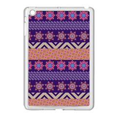 Colorful Winter Pattern Apple Ipad Mini Case (white) by DanaeStudio