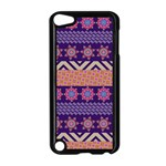 Colorful Winter Pattern Apple iPod Touch 5 Case (Black) Front