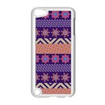 Colorful Winter Pattern Apple iPod Touch 5 Case (White) Front