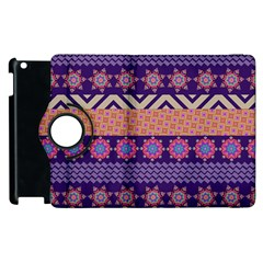 Colorful Winter Pattern Apple Ipad 3/4 Flip 360 Case