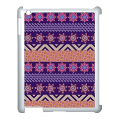 Colorful Winter Pattern Apple Ipad 3/4 Case (white) by DanaeStudio