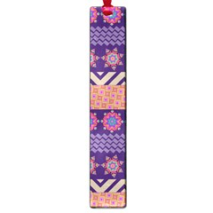 Colorful Winter Pattern Large Book Marks by DanaeStudio