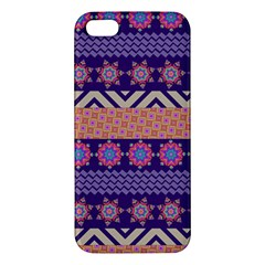 Colorful Winter Pattern Apple Iphone 5 Premium Hardshell Case