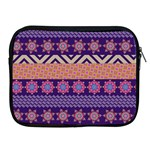 Colorful Winter Pattern Apple iPad 2/3/4 Zipper Cases Front