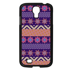 Colorful Winter Pattern Samsung Galaxy S4 I9500/ I9505 Case (black) by DanaeStudio