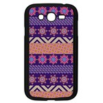Colorful Winter Pattern Samsung Galaxy Grand DUOS I9082 Case (Black) Front