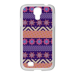 Colorful Winter Pattern Samsung Galaxy S4 I9500/ I9505 Case (white) by DanaeStudio