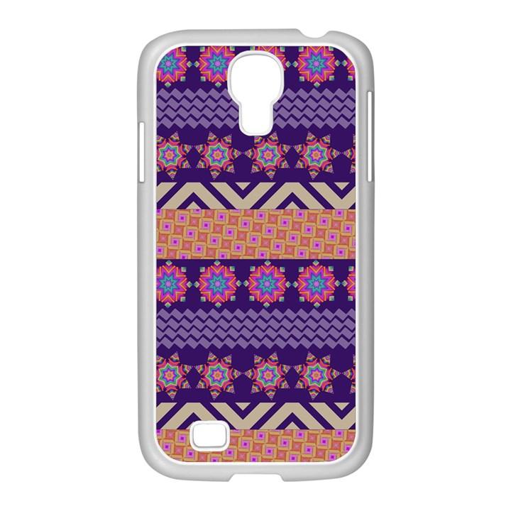 Colorful Winter Pattern Samsung GALAXY S4 I9500/ I9505 Case (White)