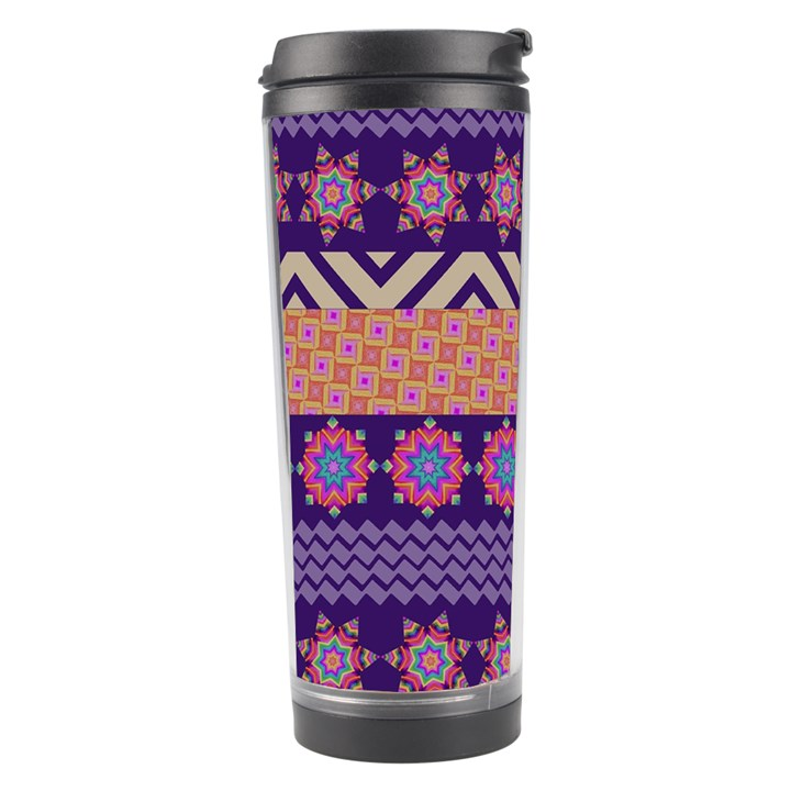 Colorful Winter Pattern Travel Tumbler
