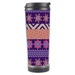 Colorful Winter Pattern Travel Tumbler Right