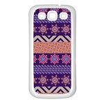 Colorful Winter Pattern Samsung Galaxy S3 Back Case (White) Front