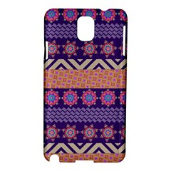 Colorful Winter Pattern Samsung Galaxy Note 3 N9005 Hardshell Case by DanaeStudio
