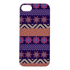 Colorful Winter Pattern Apple Iphone 5s/ Se Hardshell Case by DanaeStudio