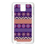 Colorful Winter Pattern Samsung Galaxy Note 3 N9005 Case (White) Front