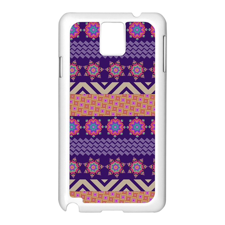 Colorful Winter Pattern Samsung Galaxy Note 3 N9005 Case (White)