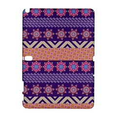 Colorful Winter Pattern Samsung Galaxy Note 10 1 (p600) Hardshell Case by DanaeStudio