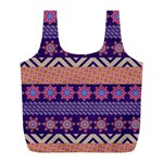 Colorful Winter Pattern Full Print Recycle Bags (L)  Front
