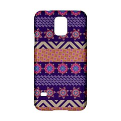 Colorful Winter Pattern Samsung Galaxy S5 Hardshell Case  by DanaeStudio