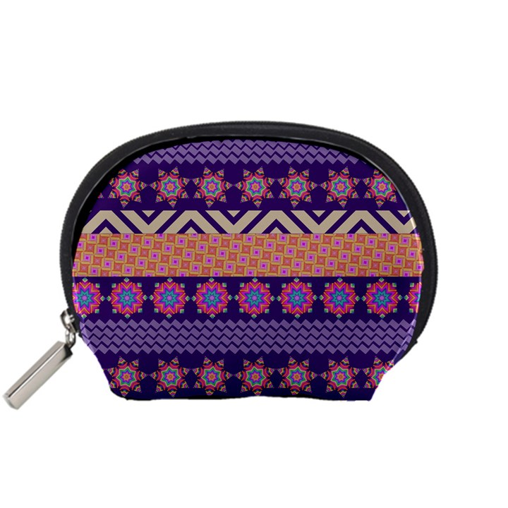Colorful Winter Pattern Accessory Pouches (Small)