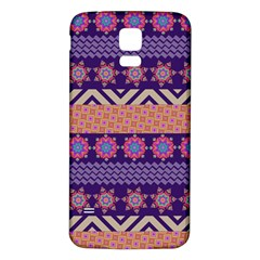Colorful Winter Pattern Samsung Galaxy S5 Back Case (white) by DanaeStudio