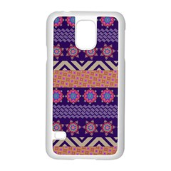 Colorful Winter Pattern Samsung Galaxy S5 Case (white) by DanaeStudio