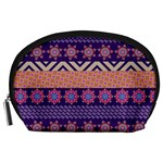 Colorful Winter Pattern Accessory Pouches (Large)  Front