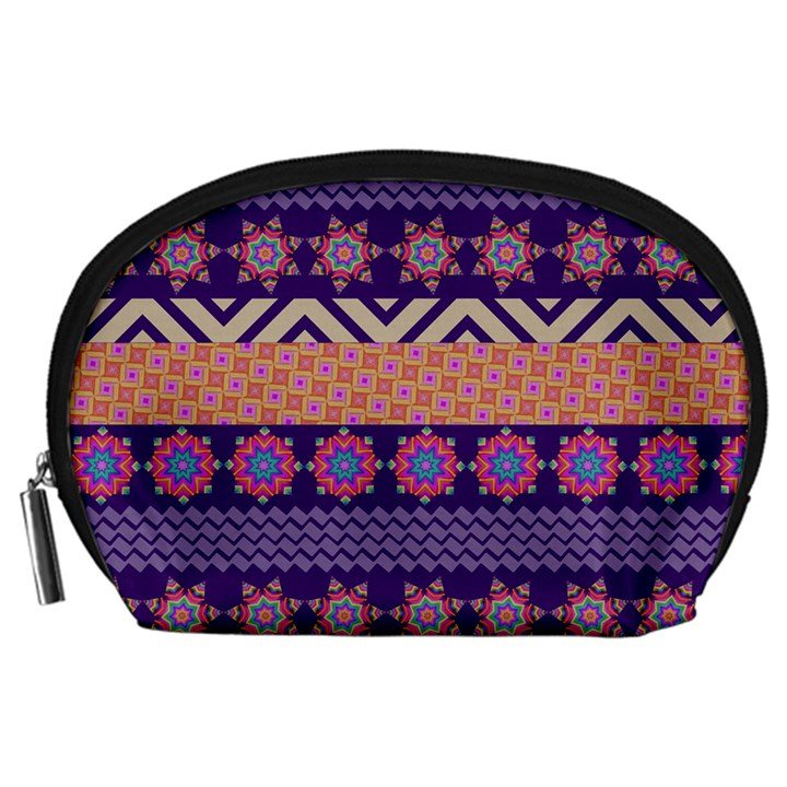 Colorful Winter Pattern Accessory Pouches (Large)