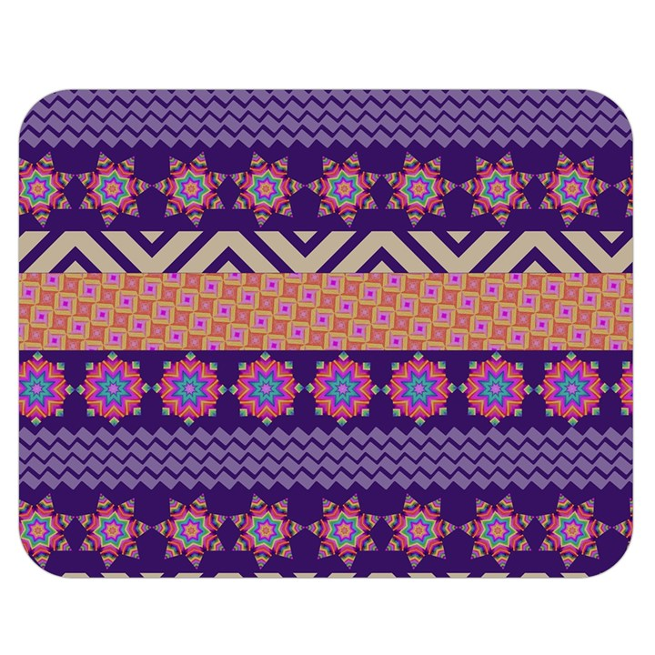 Colorful Winter Pattern Double Sided Flano Blanket (Medium)