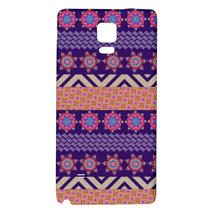 Colorful Winter Pattern Galaxy Note 4 Back Case