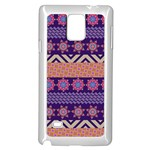 Colorful Winter Pattern Samsung Galaxy Note 4 Case (White) Front