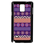 Colorful Winter Pattern Samsung Galaxy Note 4 Case (Black) Front