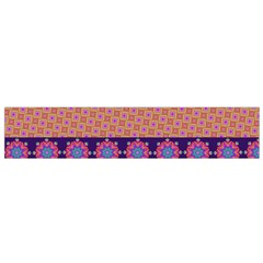 Colorful Winter Pattern Flano Scarf (small)