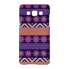 Colorful Winter Pattern Samsung Galaxy A5 Hardshell Case  by DanaeStudio