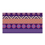 Colorful Winter Pattern Satin Wrap Front