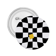 Dropout Yellow Black And White Distorted Check 2 25  Buttons by designworld65