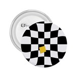 Dropout Yellow Black And White Distorted Check 2.25  Buttons