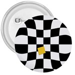 Dropout Yellow Black And White Distorted Check 3  Buttons
