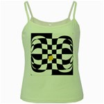 Dropout Yellow Black And White Distorted Check Green Spaghetti Tank