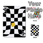 Dropout Yellow Black And White Distorted Check Playing Cards 54 Designs  Front - SpadeK