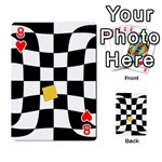 Dropout Yellow Black And White Distorted Check Playing Cards 54 Designs  Front - Heart8