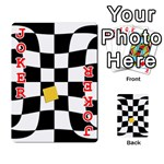 Dropout Yellow Black And White Distorted Check Playing Cards 54 Designs  Front - Joker2