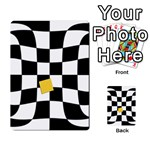 Dropout Yellow Black And White Distorted Check Multi-purpose Cards (Rectangle)  Frontback