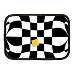 Dropout Yellow Black And White Distorted Check Netbook Case (Medium)  Front