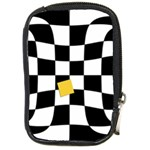 Dropout Yellow Black And White Distorted Check Compact Camera Cases Front