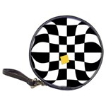 Dropout Yellow Black And White Distorted Check Classic 20-CD Wallets Front