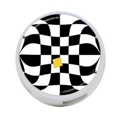 Dropout Yellow Black And White Distorted Check 4 Port Usb Hub (two Sides)  by designworld65