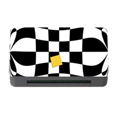 Dropout Yellow Black And White Distorted Check Memory Card Reader With Cf by designworld65