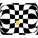Dropout Yellow Black And White Distorted Check Deluxe Canvas 14  x 11  14  x 11  x 1.5  Stretched Canvas