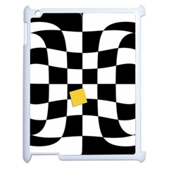 Dropout Yellow Black And White Distorted Check Apple Ipad 2 Case (white) by designworld65