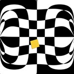 Dropout Yellow Black And White Distorted Check BEST SIS 3D Greeting Card (8x4) Inside